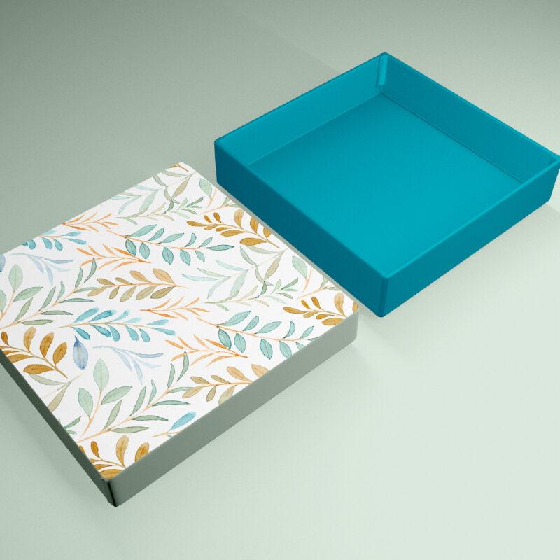 caja tapa cuadrada